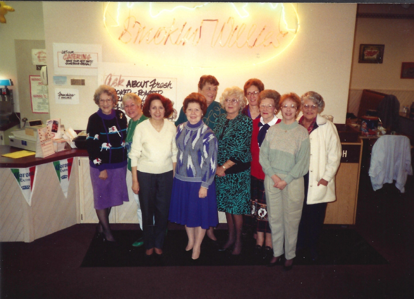 Very old award banquet 1990 wives