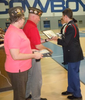 Boys Town pass and review awards by VFW Post 1581.