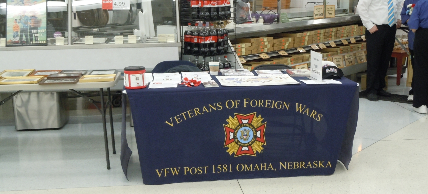 VFW Post 1581 had a table set up for Veterans.