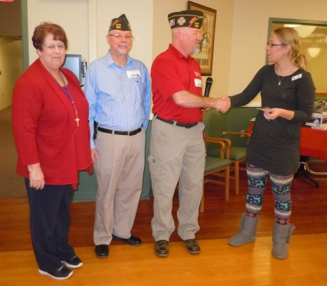 VFW Post 1581 presented a check to the residents.