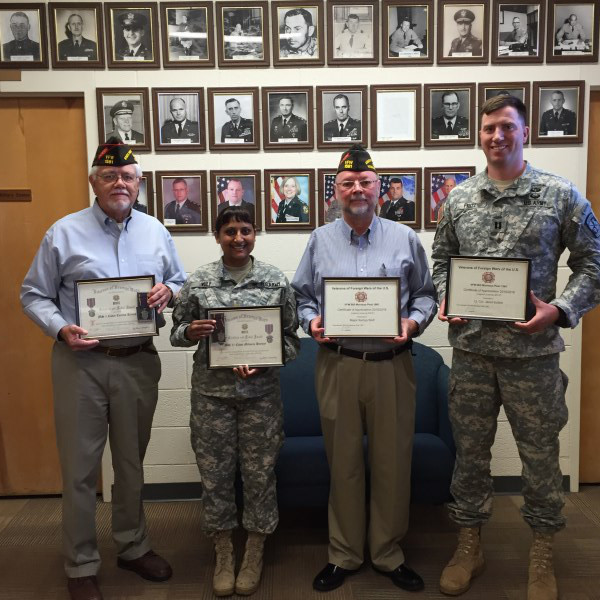 VFW post 1581 awards to Creighton SROTC