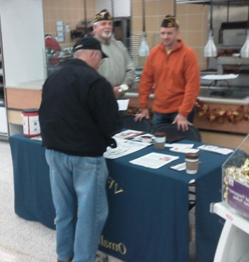 VFW Post 1581 had a table set up for Veterans. HyVee 132nd and Dodge