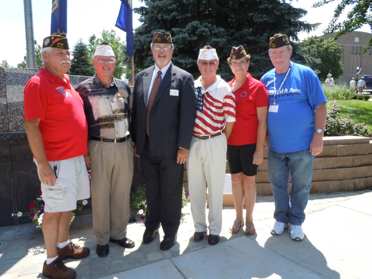 VFW Post 1581 participated in the memorial for Boys Town alumni that died in the military